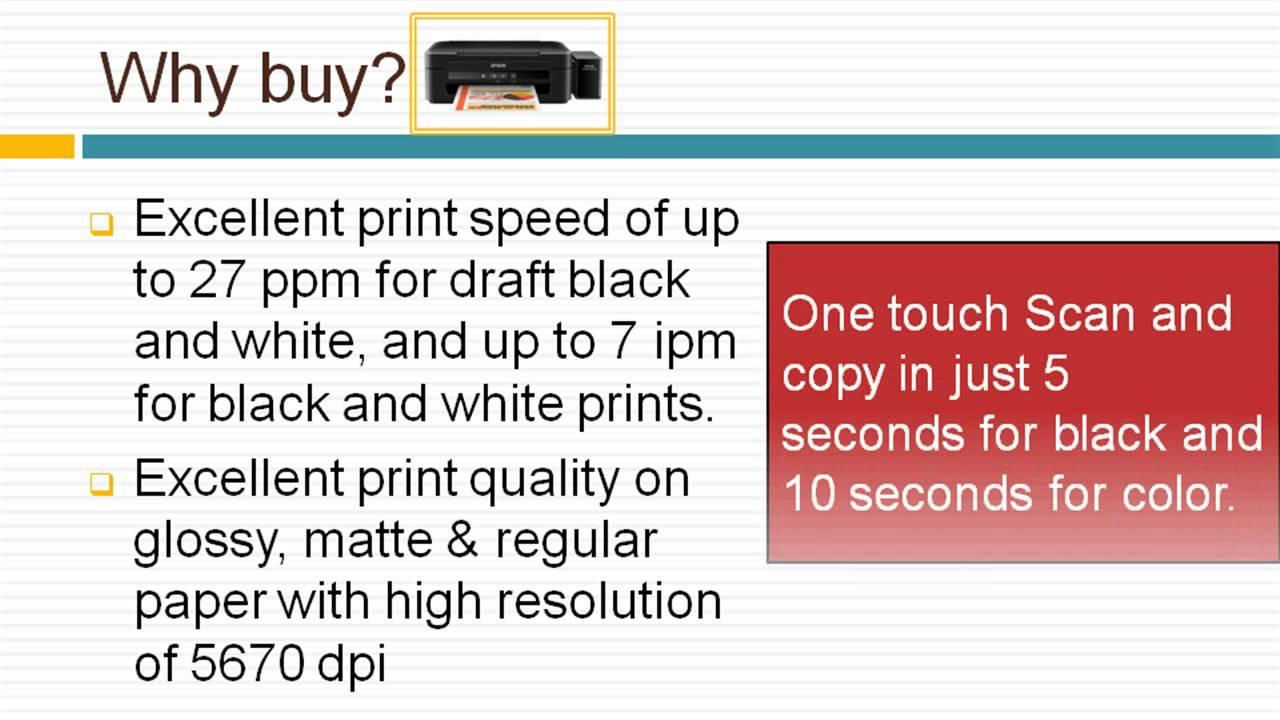 Epson Epson L220 Printer and Scanner