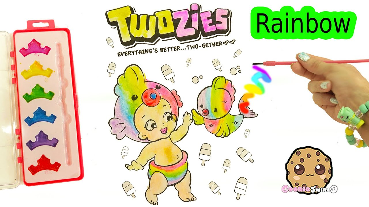 Rainbow Water Color Painting Twozies Baby With Disney Princess ...