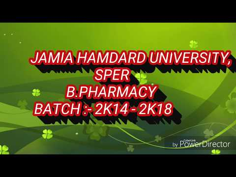 Jamia Hamdard University | SPER | B.PHARM (SFS) BATCH 2K14-18