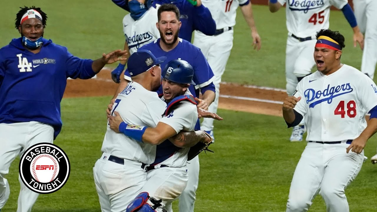 Download Reaction to the Los Angeles Dodgers winning the 2020 World Series   Baseball Tonight