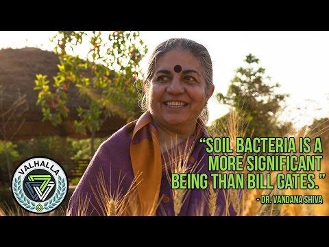 Vandana Shiva: Bill Gates Is A Thief - Activist Farmer Stands Up VS Microsoft Billionaire In France