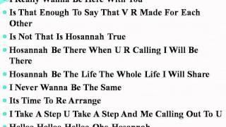 lyrics song dedicated to my lovee mmmmmmmm Ye Maaya Chesave (hosanna song lyrics, telgu, tamil)
