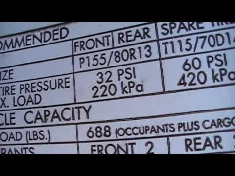 Correct Tire Pressure - YouTube