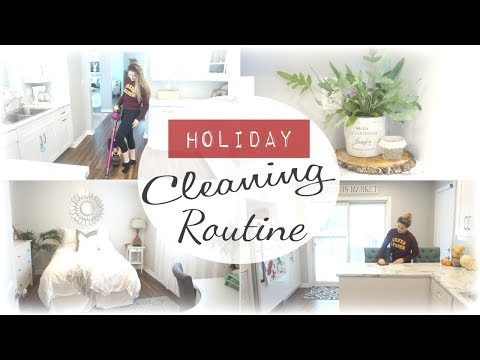 HOLIDAY CLEAN WITH ME I ENTIRE HOUSE CLEANING ROUTINE I Power Hour Clean with me before company