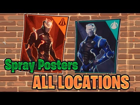 Spray Over Different Carbide And / Or Omega Posters LOCATIONS! - Fortnite Battle Royal
