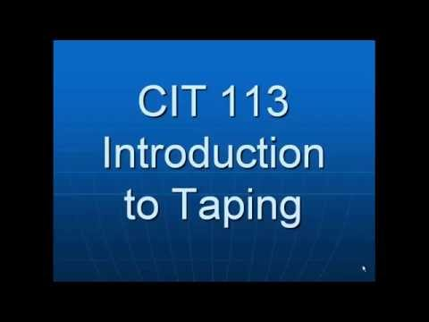 Introduction to Taping