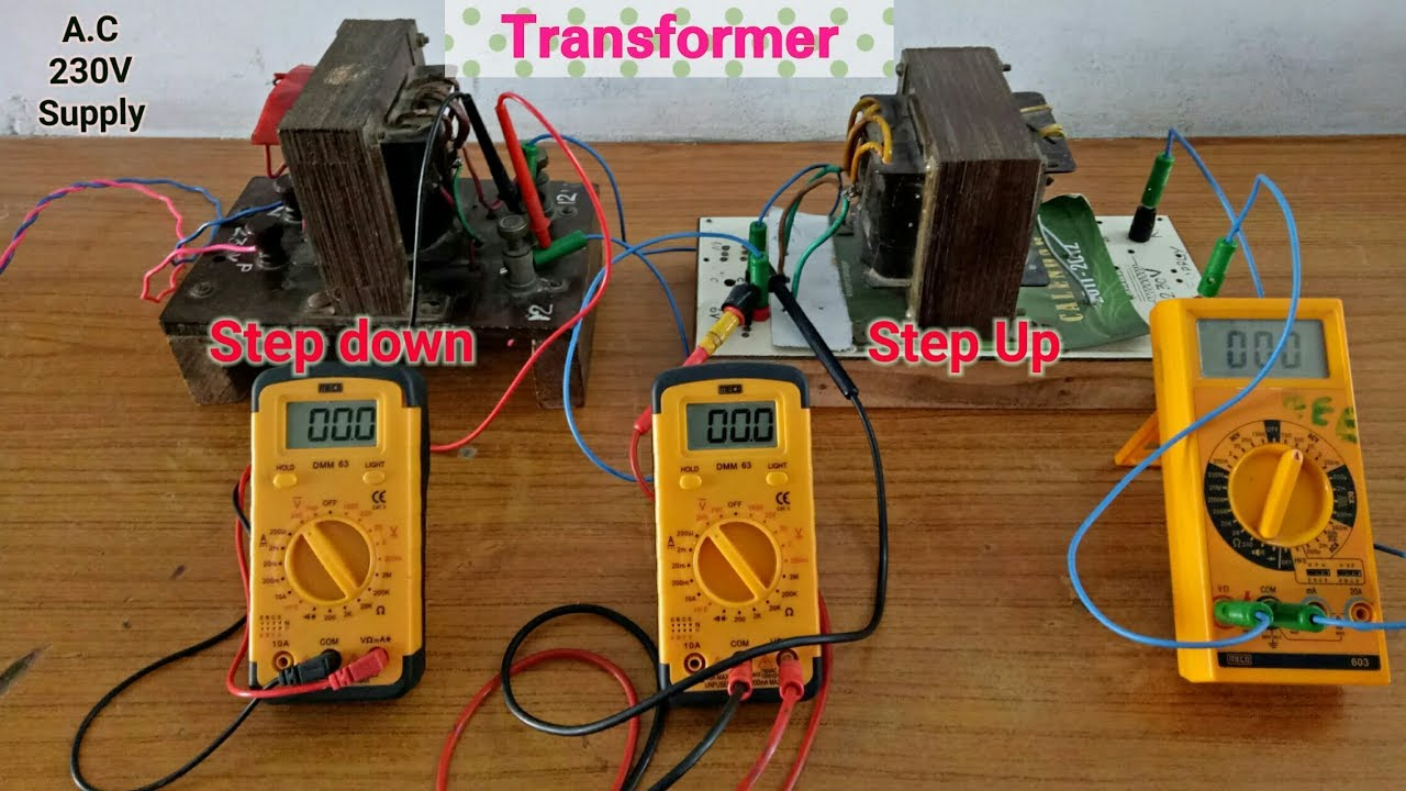 Transformer Step down and Step Up - YouTube