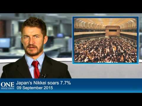 Japan's Nikkei soars 7.7%