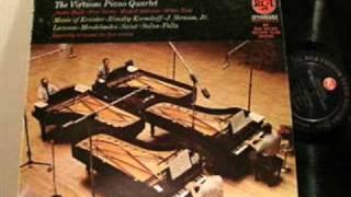 The Virtuoso Piano Quartet plays J. Strauss Kunstlerleben Waltz (Artist