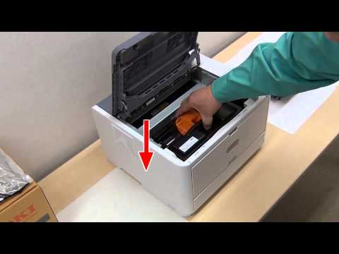 How to Install an Image Drum in OKI Black and White Printers and MFPs