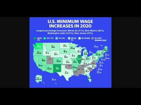 20 States Will Increase Their Minimum Wage Pay Rate Jan 1, 2021