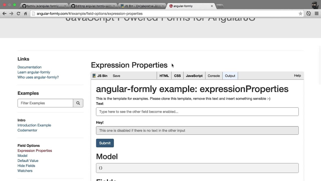 Angular Formly Create An Example Youtube