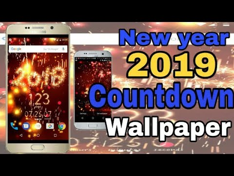 Happy New Year 2019 Countdown In Hindi In Mobile Wallpaper 3d