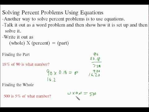 problem solving using equations