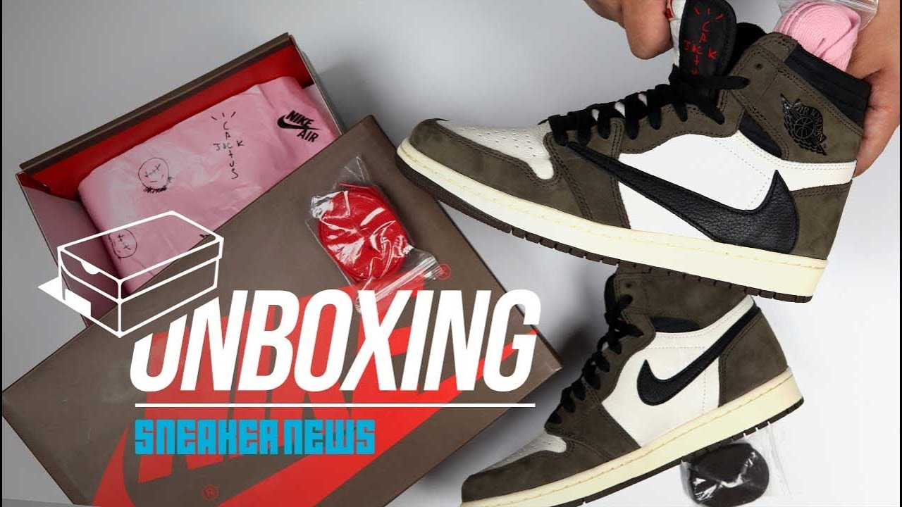 6d490bb47d8 Unboxing Travis Scott Air Jordan 1 - The Shoe of the Year? - YouTube