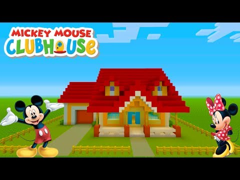 "Minecraft Tutorial: How To Make Mickey Mouses House ""Mickey Mouses Clubhouse"""