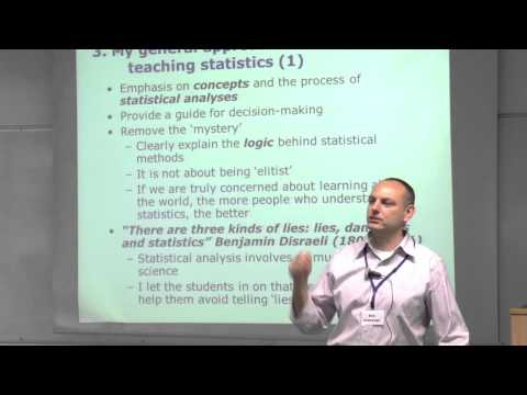 Bob Andersen talks about teaching statistics to social science students