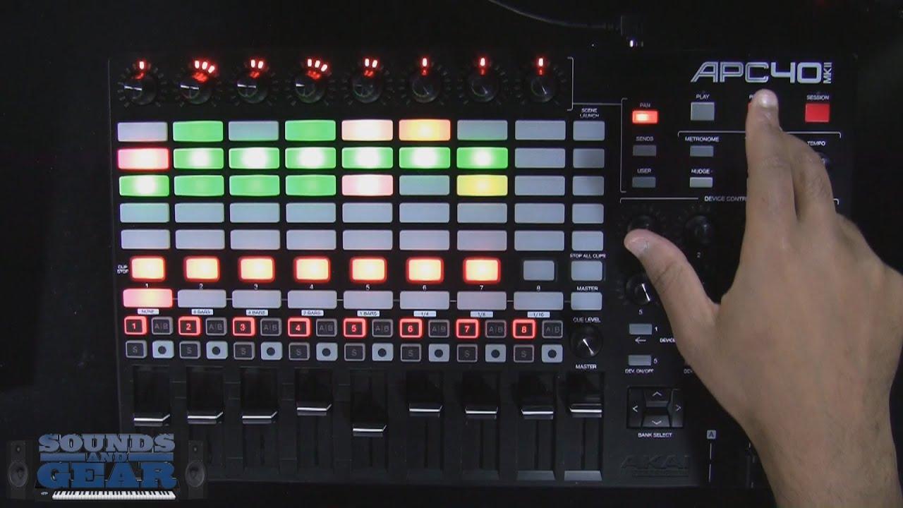 Akai APC40 MKII Ableton Live Controller Review - SoundsAndGear com