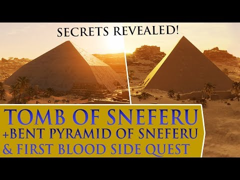 Assassin's Creed: Origins - Tomb of Sneferu + Bent Pyramid of Sneferu & First Blood side quest