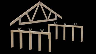 Roof Truss to Wood Wall Connection using Burmon Hurricane Anchors  -  Clearco Fasteners