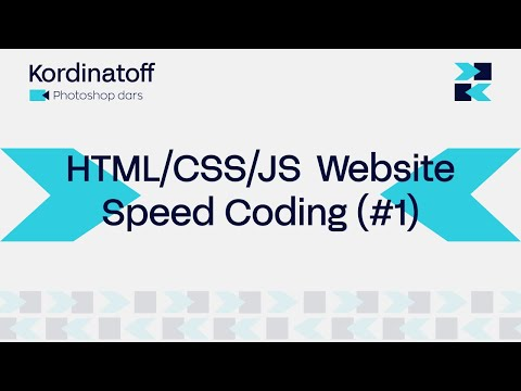 HTML/CSS/JS  Website Speed Coding (#1) Kordinatoff Coding | Website Development