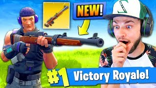*NEW* HUNTING RIFLE GAMEPLAY in Fortnite: Battle Royale!