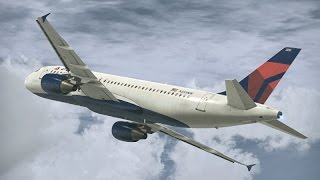 FSX HD Project Airbus 320 DELTA 2453 New York LaGuardia to Key West Full Flight Passenger Wing View