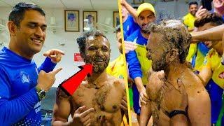 CSK Dressing Room Funny Moments   MS Dhoni , Raina , Bravo   CSK Vs DC   IPL 2019