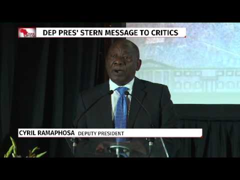 Ramaphosa's radical change call
