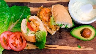 Louisiana Lafayette Ragin Cajuns Shrimp Po Boy  Tasty Tailgate Recipe