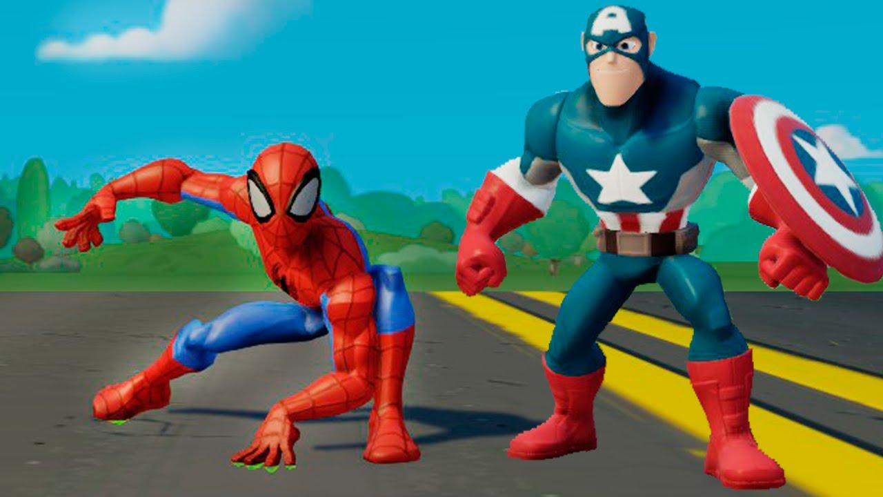 Супергерои мультфильм - Человек Паук и Капитан Америка ...