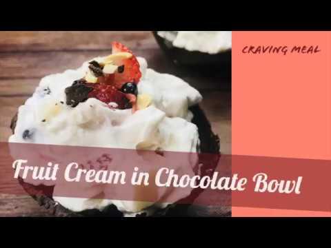 Fruit cream recipe   instant dessert   dessert recipe   craving meal  