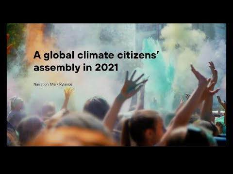 A global climate citizen's assembly in 2021