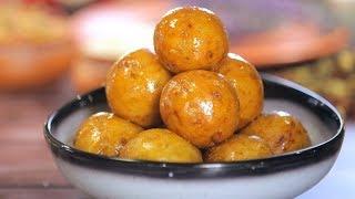 Sweet Potato Gulab Jamun | Mishti Aloo'r Pantua Recipe | Bengali Sweet Recipe #DurgaPuja Recipe