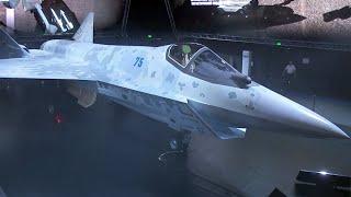 На авиасалоне МАКС в Жуковском представлен российский истребитель пятого поколения.