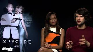 Spectre: Naomie Harris and Ben Whishaw