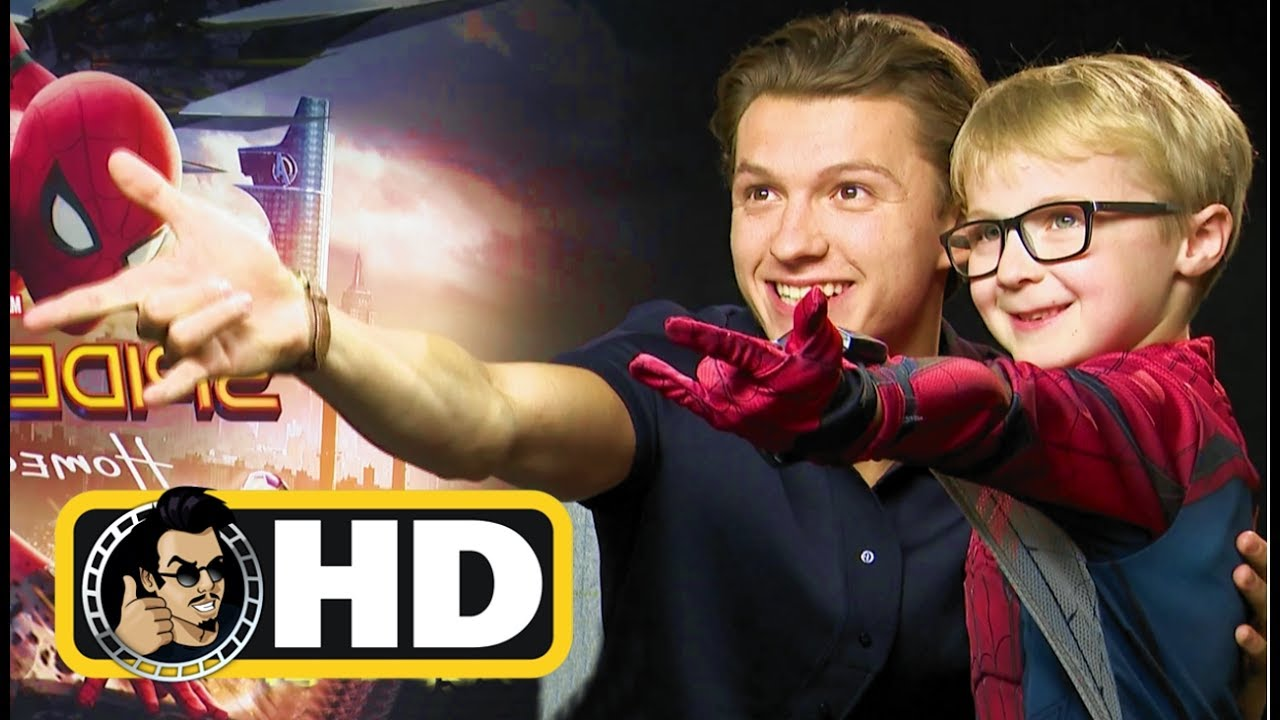 Cute Adorable Fan Liam interviews Tom Holland and Zendaya for SPIDER-MAN: HOMECOMING