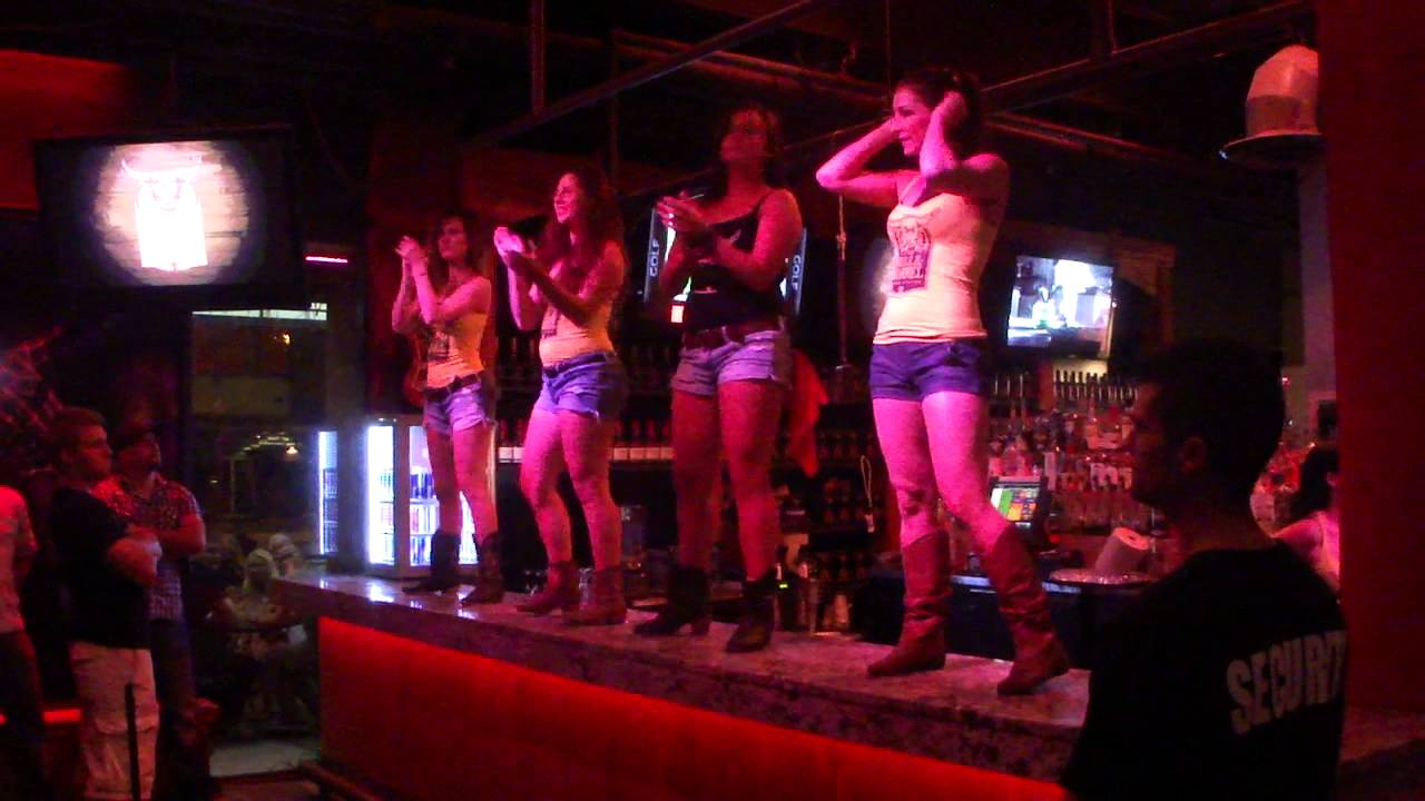 Genial Bull Nu0027 Barrel Coyote Ugly Style Bar Top Dance   YouTube
