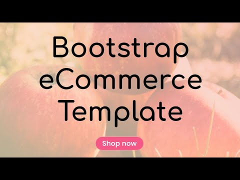 Bootstrap ECommerce Template - Free HTML Website Templates
