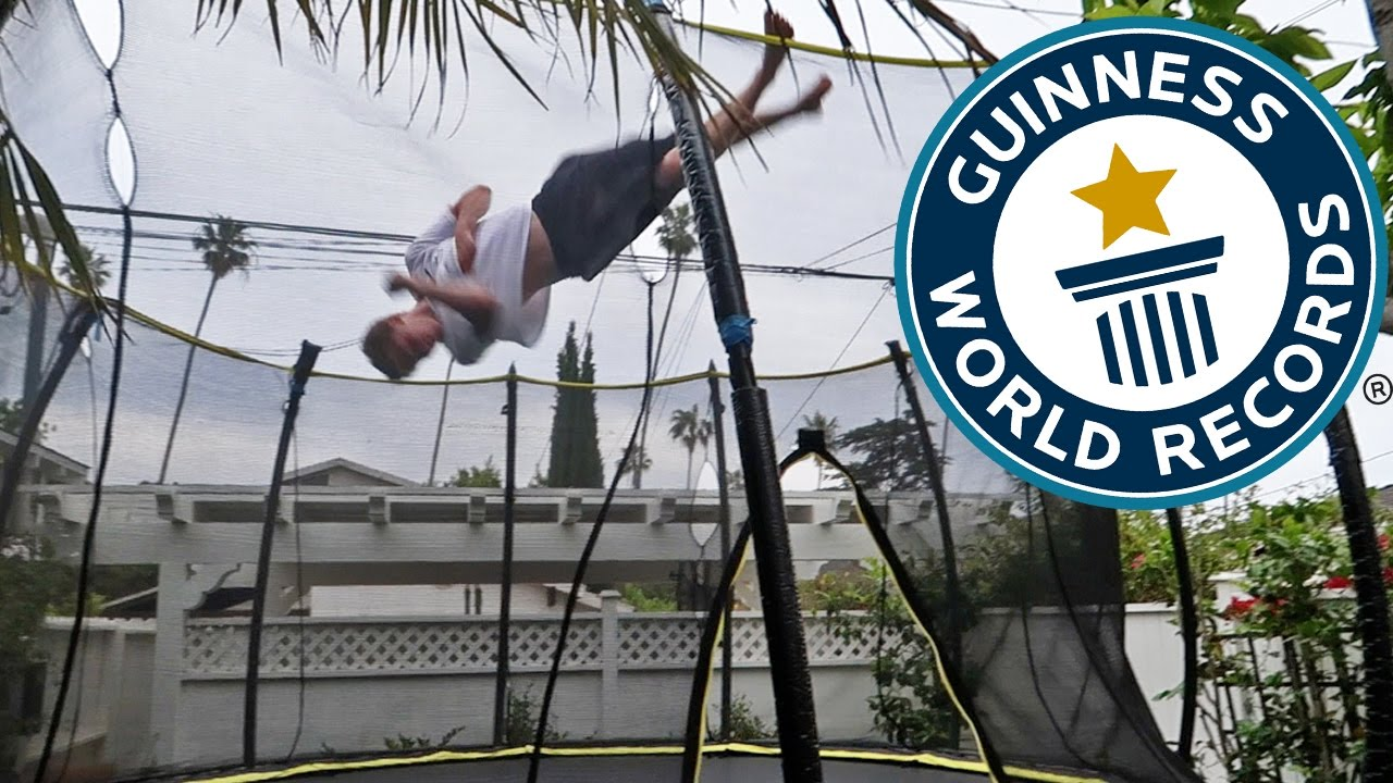 BREAKING THE HARDEST TRAMPOLINE WORLD RECORDS!!