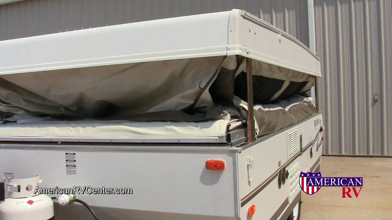 medium resolution of popup folding tent camper setup and use walkthrough demonstration american rv center youtube
