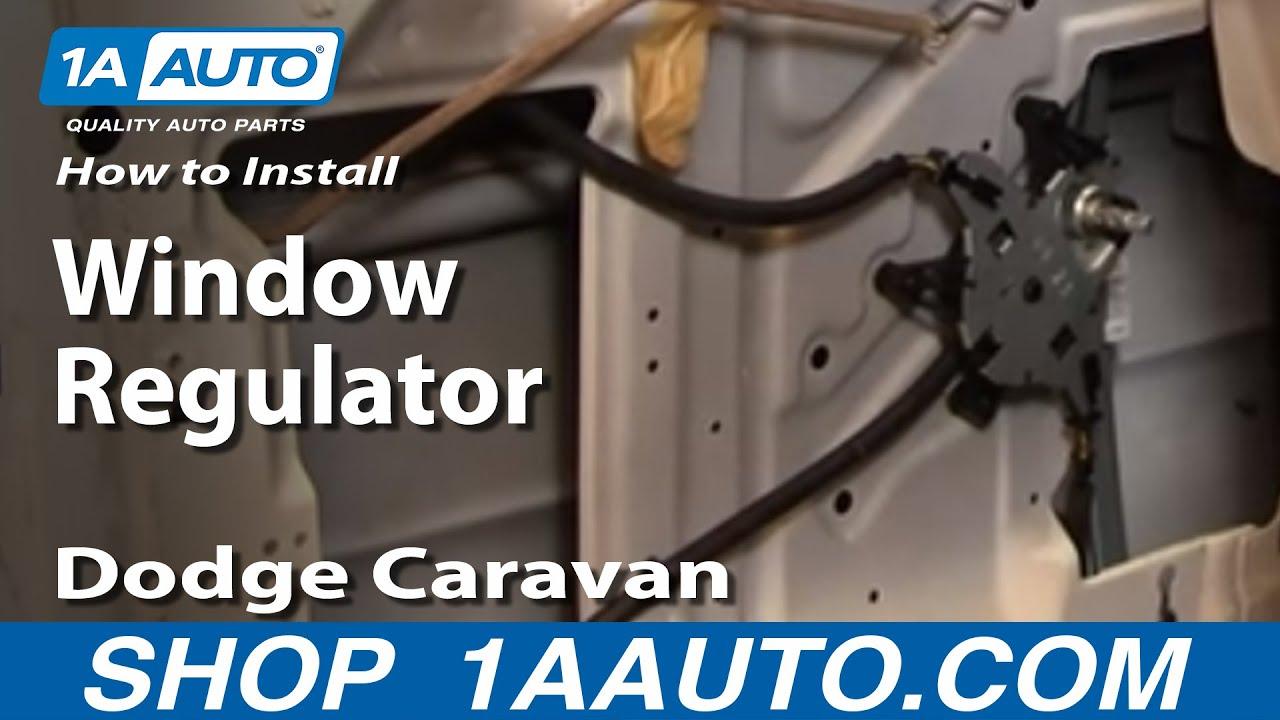 how to replace window regulator 96 00 dodge caravan [ 1280 x 720 Pixel ]