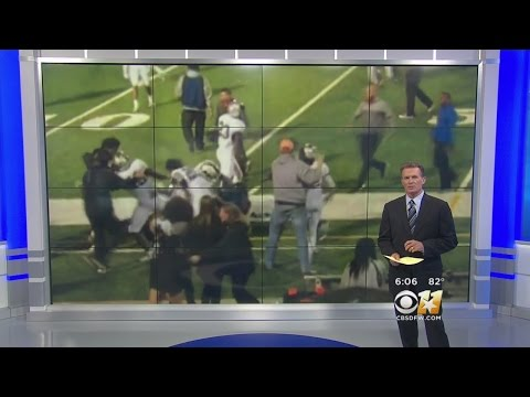 Nasty Game-Ending Football Fight Caught On Camera