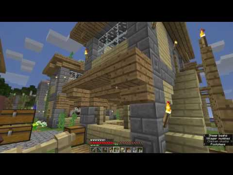 Minecraft Village Building S3E25(3/3): Bakery, Bakery Trading, And Signs