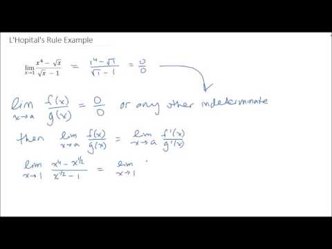 L'Hopital's Rule Example - AP Calculus AB