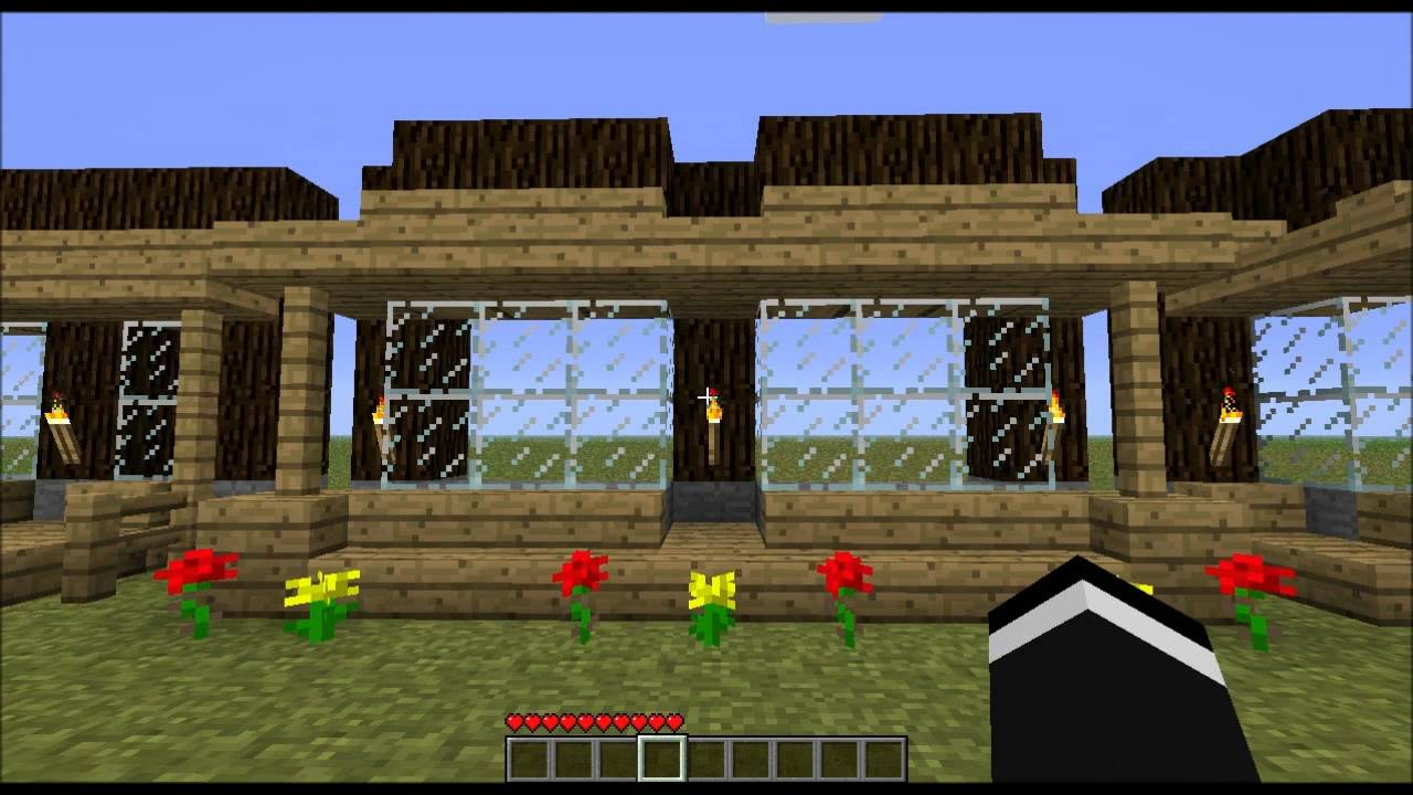 Minecraft home design windows shapes youtube for Window design minecraft