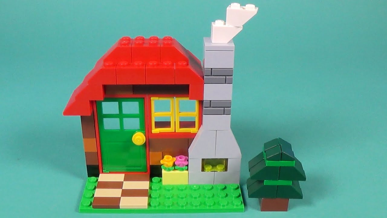 Lego log cabin building instructions lego classic 10695 for Modele maison lego classic