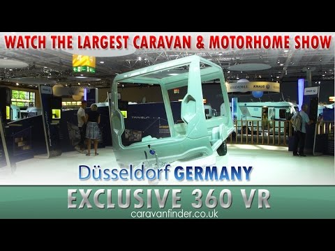 Virtual Reality (VR) of the Caravan Salon, in Germany. The World's largest caravan & motorhome show