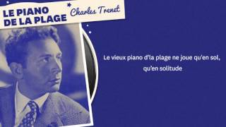 LE PIANO DE LA PLAGE CHARLES TRENET