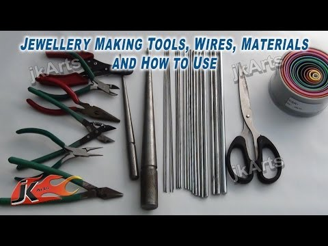 Jewellery Making Tools, Wires, Materials And How To Use - JK Arts 305